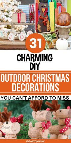 Rustic Christmas Crafts, Cheap Christmas Trees, Diy Christmas Decorations Easy, Christmas Porch, Homemade Christmas Gifts, Outdoor Christmas Decorations, Christmas Angels, Simple Christmas, Holiday Crafts
