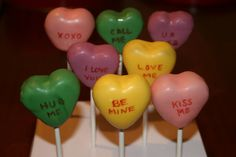 Great idea for Valentine's cake pops.