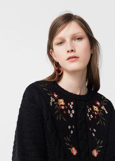 Camisola bordado flores   MANGO
