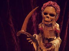 Santisima Muerte Statue - Custom by WolfandGoat on Etsy https://www.etsy.com/listing/173391546/santisima-muerte-statue-custom