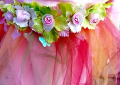 """This is the detail on the waist of a """"fairy princess"""" dress."""