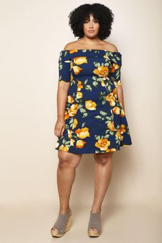 7baa4480c99 A charming plus size mini dress