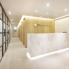 포트폴리오 Hotel Reception Desk, Reception Desk Design, Clinic Interior Design, Clinic Design, Medical Office Design, Home Office Design, Commercial Design, Commercial Interiors, Plano Hotel