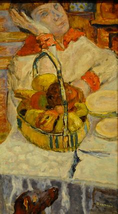 Pierre Bonnard - Woman with Basket of Fruit, 1918 at Baltimore Museum of Art Baltimore MD