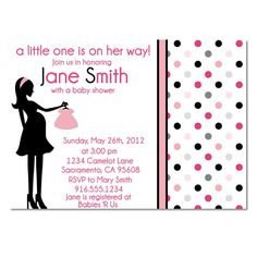 Black and Pink Baby Shower