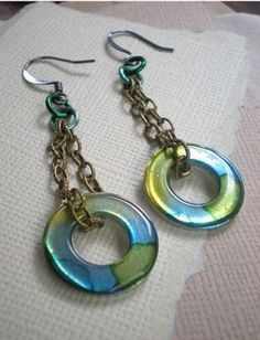 alcohol ink jewelry - Google Search