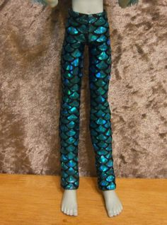Blue scale slim fit pants for monster high male by moonsight68, $5.00