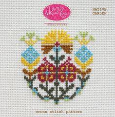 Native Garden by Anna Maria Horner Needleworks - Cross Stitch Pattern - Floral Cross Stitch - Counted Cross Stitch Pattern by Owlanddrum on Etsy