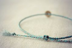 Custom Mixed Thread Braided Bracelet with 8mm Brass Coin by Riemke, $17.38