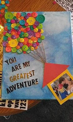 Up! themed canvas! Perfect gift for my boyfriend #Disney #Up! #crafty #DIY http://www.giftideascorner.com/birthday-gifts-ideas #boyfriendbirthdaygifts