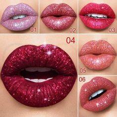 2018 New Shimmer Lipstick Waterproof Metallic Matte Liquid Lipstick Beauty Lip Gloss Make Up Cosmetic Fashion Hot Sparkle Lipstick, Shimmer Lip Gloss, Lip Gloss Colors, Matte Lip Gloss, Lipstick Set, Gloss Lipstick, Liquid Lipstick, Lip Colors, Jitter Glitter