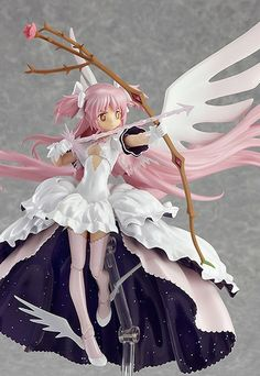 """"""" From the anime series, Puella Magi Madoka Magica comes a figma of Madoka in her final form, Ultimate Madoka! Using the smooth yet posable joints of figma, you can act out a variety o. Figure Poses, Anime Figurines, Popular Anime, Anime Merchandise, Anime Dolls, Doll Repaint, Manga Illustration, Awesome Anime, Anime Art Girl"""