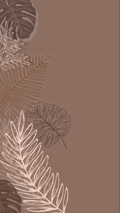 Beige Wallpaper, Iphone Background Wallpaper, Leaves Wallpaper, Simple Wallpapers, Pretty Wallpapers, Iphone Wallpaper Tumblr Aesthetic, Aesthetic Wallpapers, Iphone Minimalist Wallpaper, Cute Patterns Wallpaper