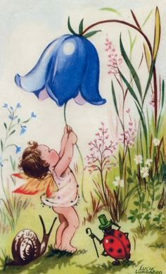 A bellflower Lucie Lundberg, another illustrator for children who worked in the first half of the twentieth century