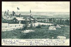 Utsikt fra Holmenkollen 1904 Abels kunstforlag.