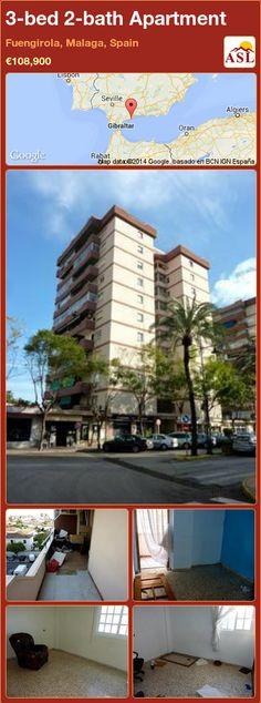 3-bed 2-bath Apartment in Fuengirola, Malaga, Spain ►€108,900 #PropertyForSaleInSpain