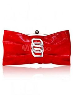 Trendy Horizontal Shape Knotted Glitter PU Leather Mini Evening Bag For Women