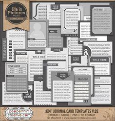 Journal Card Templates | Peppermint Creative