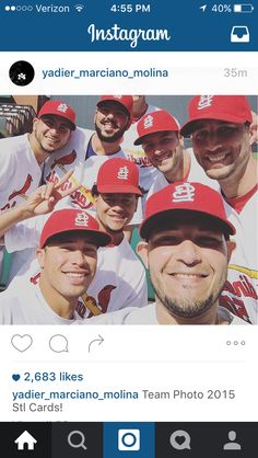 Team photo 2015 from Yadi's Instagram