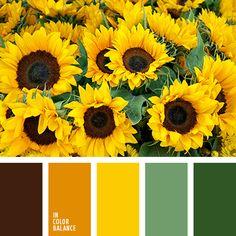 грязно-коричневый, желтый, зеленый, насыщенный оранжевый, оттенки оранжевого, подбор цвета для дома, почти черный цвет, темно-оранжевый, теплые оттенки, теплый желтый, теплый оранжевый, цвет листьев.  1