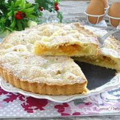 Crostata di mele della nonna - Ricetta crostata di mele Il Cuore in Pentola Biscotti, Apple Pie, Camembert Cheese, Recipies, Food And Drink, Sweets, Desserts, Strudel, Nutella