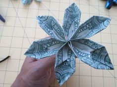 How to Make a Money Origami Flower for Leis - aSimplySimpleLife - YouTube
