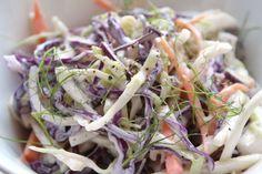 #Ensalada de #col china y zanahoria con salsa de #yogur