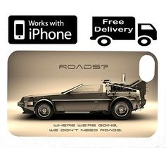 Delorian Iphone Case (4,4s,5) Back to the Future Movie