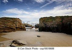 Spanish destination, Playa de las catedrales - csp18518688