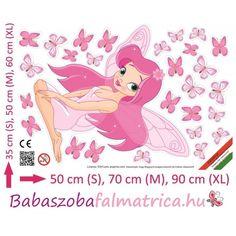 Tündéres falmatrica #babaszoba #tündér #falmatrica #gyerek #gyerekszoba #faldekoráció #pink #kislány Pink, Pink Hair, Roses