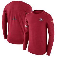 Men s Nike Scarlet San Francisco 49ers Sideline Player Long Sleeve  Performance T-Shirt Ohio State 05793331e