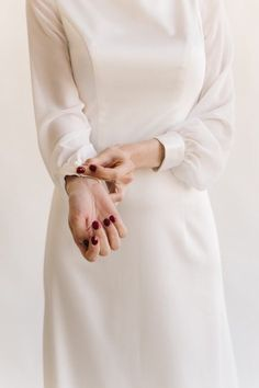 Open back wedding dress with bow, Simple wedding dress long sleeve, Minimalist wedding dress, Simple wedding dress STELLA - Long Sleeve Wedding Dresses Fantasy Wedding Dresses, Long Wedding Dresses, Boho Wedding Dress, Bridal Dresses, Bridesmaid Dresses, Open Back Wedding Dress, Long Sleeve Wedding, Hijab Evening Dress, Minimalist Wedding Dresses