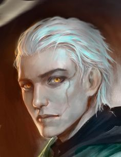 Male Human Humanoid Businessman Noble Mage White Hair Yellow Evil Eyes