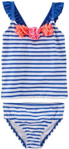 e886842013 Osh Kosh Oshkosh Bgosh Toddler Girl Striped Tankini   Bikini Bottoms Swim  Set Striped Tankini