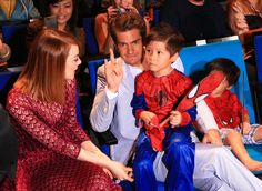 They've been promoting The Amazing Spider-Man 2 and also being the best couple ever.