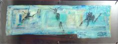 One dream. Painting on aluminum and acrylic.  Artist: Elisabeth Takvam. 170x60 cm