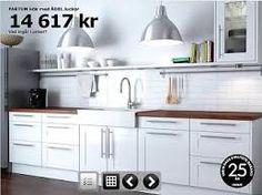Ädel with Foto lamps - retro kitchen from Ikea Kitchen Reno, New Kitchen, Kitchen Cabinets, Ikea, Exposed Brick, Interior Design, Retro, Room, Lighting Ideas