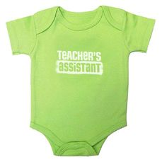 Teacher's Assistant onesie for homeschooling families!