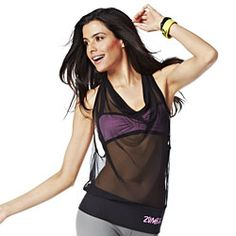 #zin #zumbawear #zwag The Full Orbit Instructor Zumba Top is made of breathable mesh that lets you stay cool as you heat it up on the floor. The too-cute tie on the back...