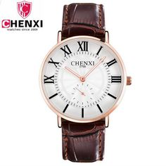 CHENXI Luxury Brand Quartz Watches Men Classic Male Wristwatch Waterproof Leather Strap Fashion Watch For Man Relogio Masculino