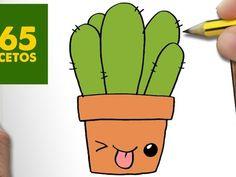 COMO DIBUJAR CACTUS KAWAII PASO A PASO - Dibujos kawaii faciles - How to draw a CACTUS