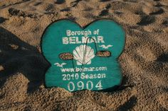 Belmar Beach Badge Sign  10th Ave Freeze Out  To by signsbythesea, $85.00
