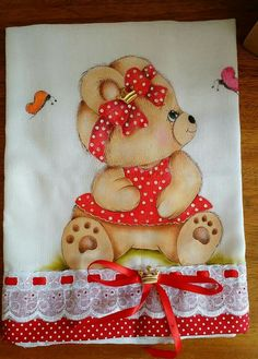 Joaquina Ciorra Bilovol's media content and analytics Painting Patterns, Fabric Painting, Teddy Bear Drawing, Felt Crafts, Paper Crafts, Bear Pictures, Cute Teddy Bears, Tatty Teddy, Animal Paintings