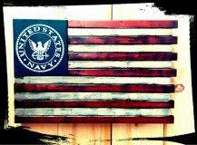 US Navy - Custom Wooden Flag (Hidden Compartment)