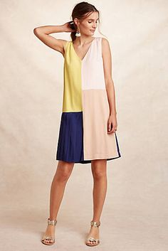 Vieques Colour Block Shift Dress