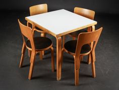 Lauritz.com Detail of lot picture... Alvar Aalto dining table, made in Finland