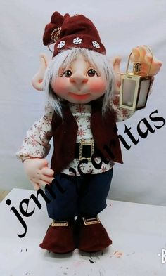 Nely Fernandez's media content and analytics Christmas Elf, Christmas Crafts, Christmas Decorations, Fun Crafts, Diy And Crafts, Paper Crafts, Elves And Fairies, An Elf, Holly Hobbie