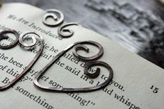 Wire Heart Bookmarks