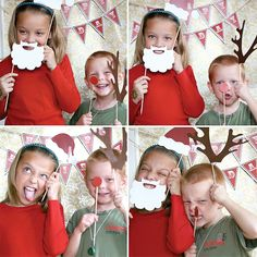 holiday party photo booth! Love this! I think it would be a cute card too!!!
