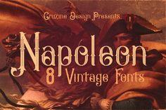 Napoleon Vintage Typeface by Cruzine on @creativemarket